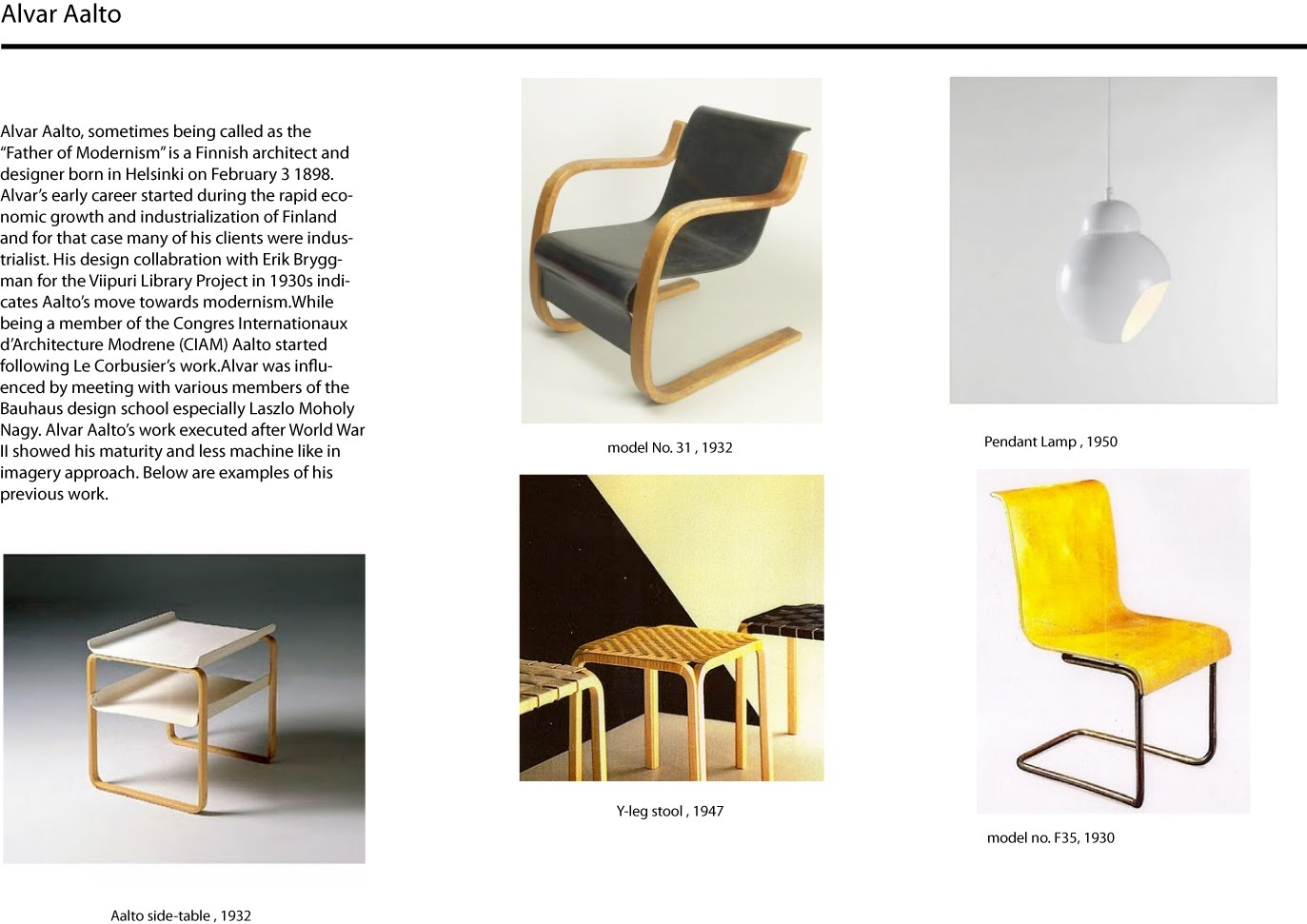 Arif Furniture Design Alvar Aalto