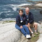 Roger and Barb at Peggy's Cove
