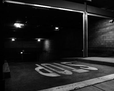 stop+upside+down+parking+garage+noir+hi+contrast Caption this photo (#22)  photo