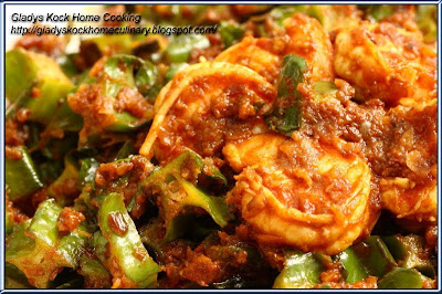 Stir-fry Four-angled Beans with Sambal Chilli Udang Belacan