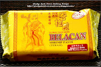 Shrimp Paste (Belachan or Belacan)峇拉煎