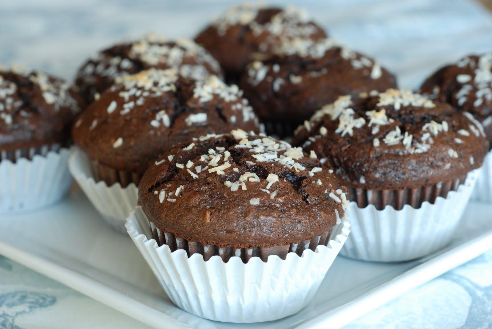 Chocolate Banana Coconut Muffins - Simply So Good