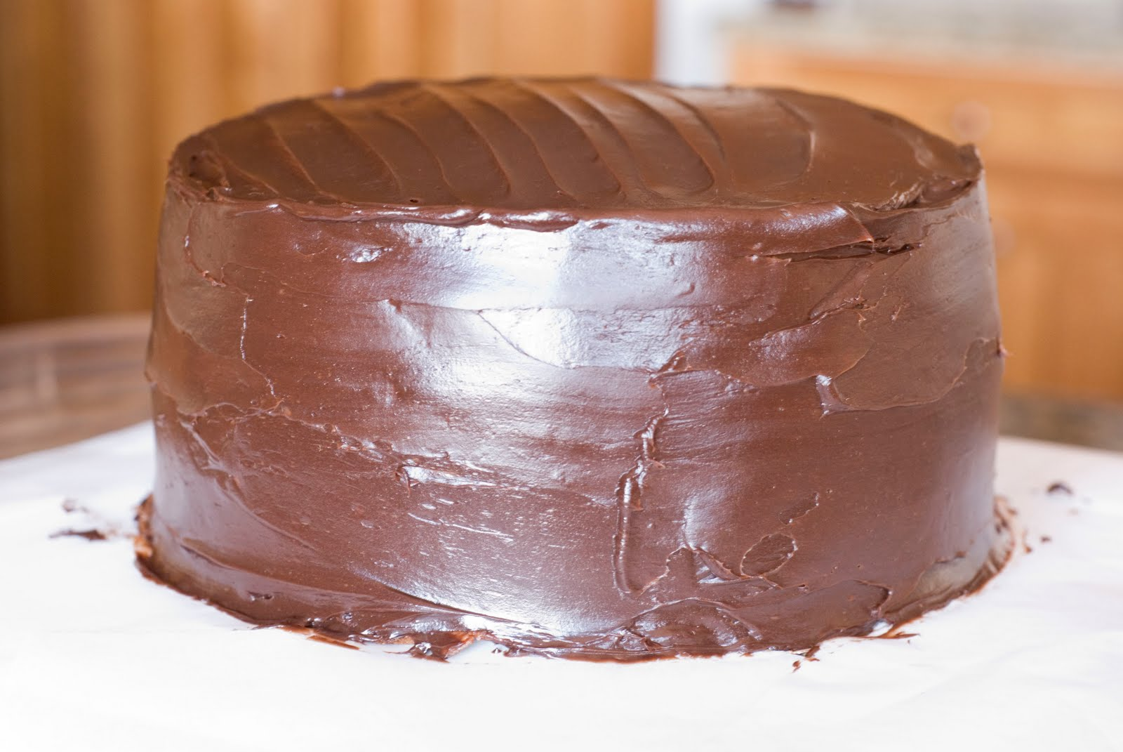Dark Chocolate Crepe Cake Step # 3 Chocolate Ganache ...