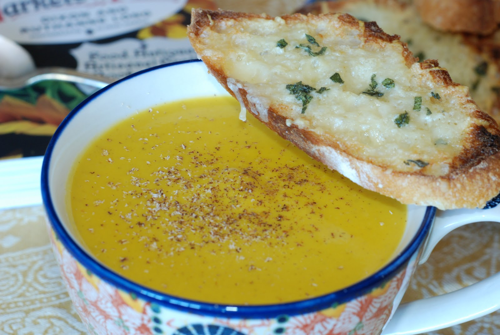 Simply So Good: Pumpkin Coconut Bisque with Sage and Gruyere Crostini