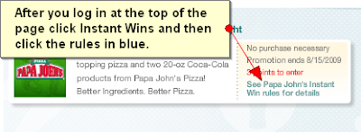 How to play the My Coke Rewards Papa John's Instant Win Game to win pizza and Coke