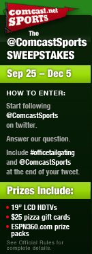 The @ComcastSports Twitter Sweepstakes