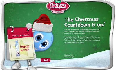 KMart Mr. Bluelight's Christmas Countdown Instant Win Game Winning Screenshot
