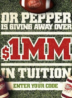 2009 Dr Pepper Football $1,000 A Day Tuition Giveaway Game