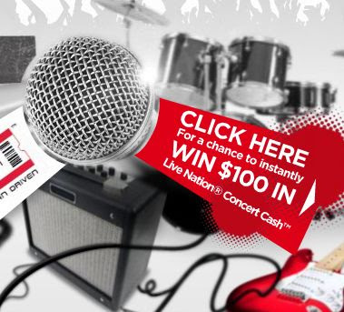 MyCoke Live Nation Cash Instant Win Game