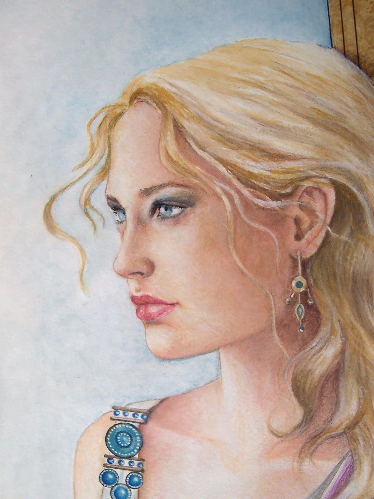 Damaride marangelli illustrator il mito di elena for Francesca la troia