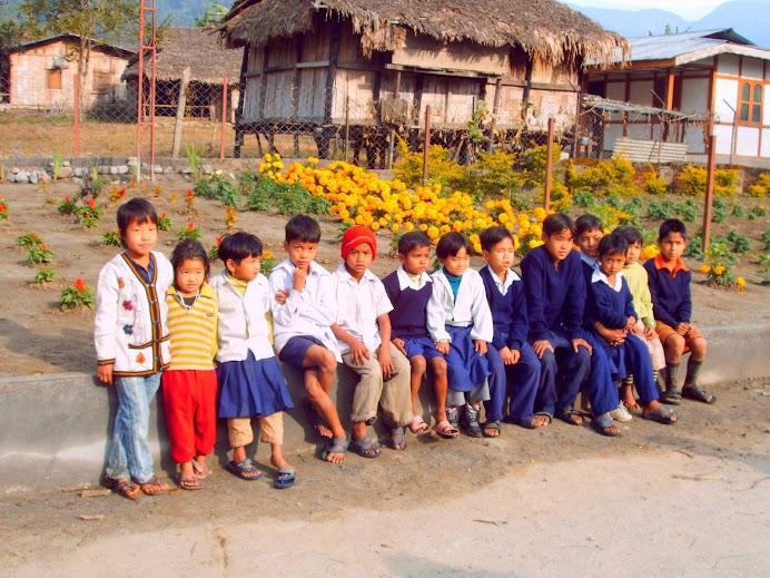Cute children at the 'Elephant' School