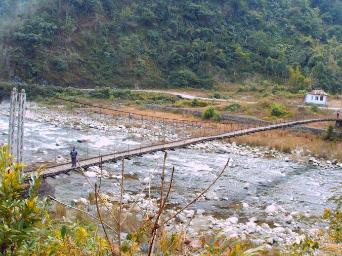 Hanging bridge across Kameng