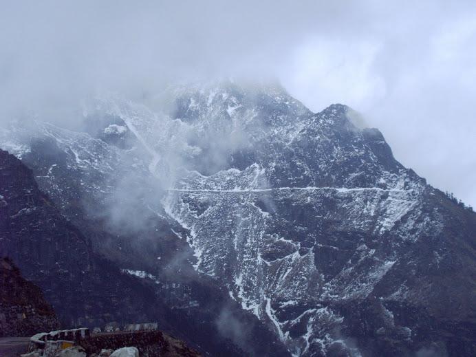 Snowclad mountain near Sela