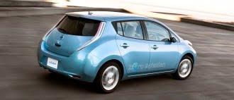 Nissan Leaf in motion
