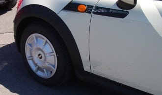 Close up of Minimalist wheel cover