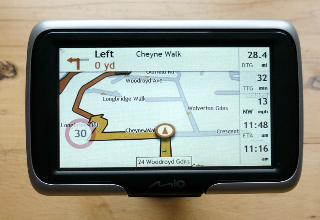 Mio Spirit 470 navigating screen