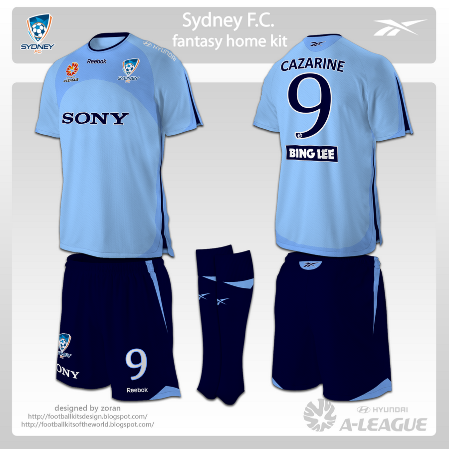6b91238df52 football kits design  Sydney FC fantasy kits