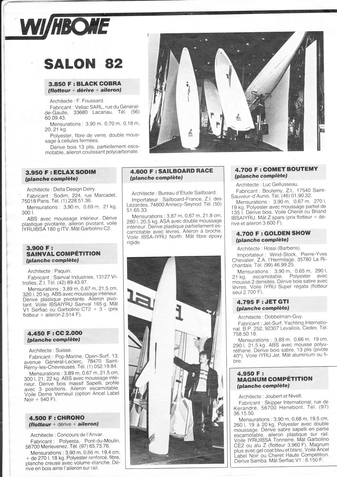 Planche A Voile Open Division 2 Tout Le Materiel Open Division 2 Annee 1982