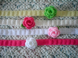 Headband with Small Rose