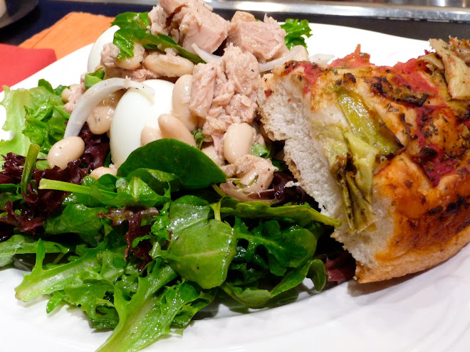 Italian Tuna & Cannellini Bean Salad with D'Amato's Focaccia