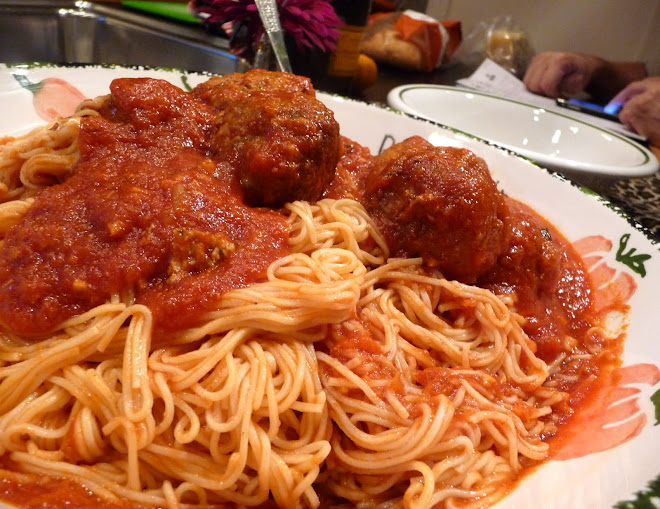 Capellini & Homemade Meatballs (Like Rocco's Mama's)