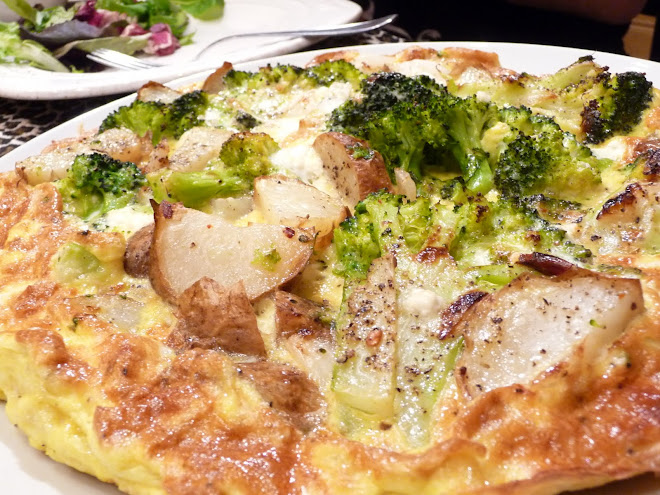 Broccoli & Baked Potato Frittata with Feta & Onions