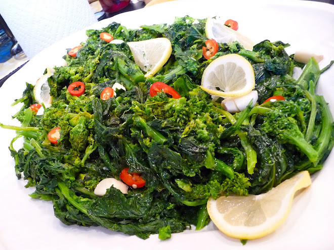 Rapini with Olive Oil, Lemon, Garlic & Fresh Chiles