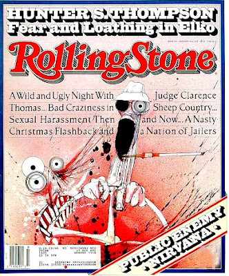 Hunter S. Thompson en la portada de Rolling Stone,1992