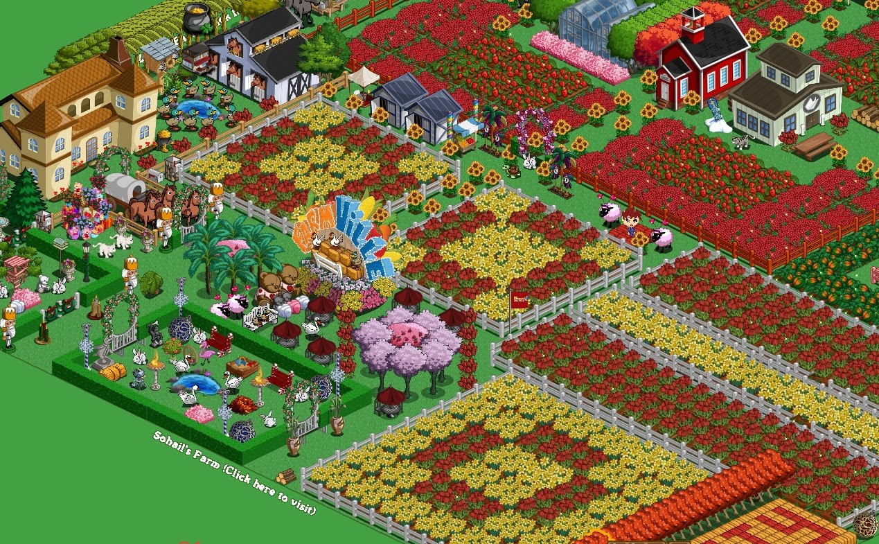 The pretty geeks farmville flower decorations for Farmville 2 decorations