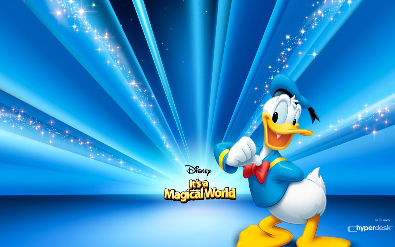 White Background Donald Duck Wallpaper