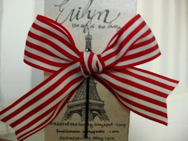 Paris Red and White Striped Hair Bow Bobby Pin!