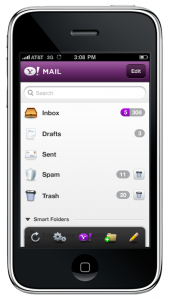 Yahoo Mail en HTML5 pour iPhone
