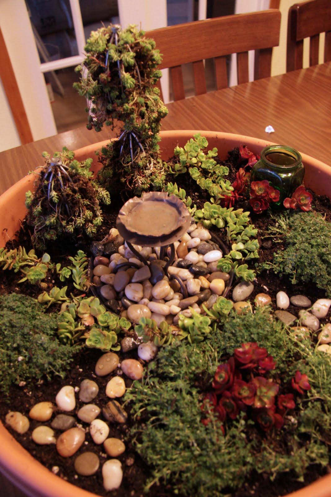 It\'s Like Potato Chips...: Miniature Garden Birthday Fun