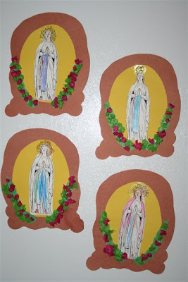 Shower of roses ideas for the feast of our lady of lourdes for Our lady of guadalupe arts and crafts