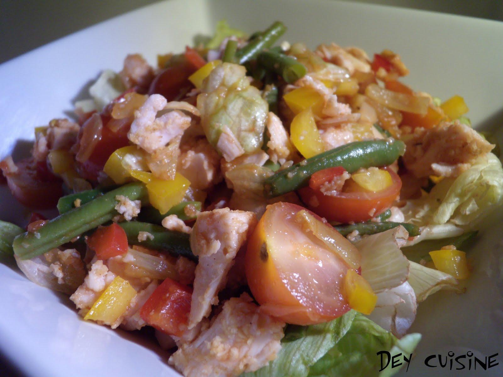 dey cuisine salade chaude de poulet aux anchois sans anchois