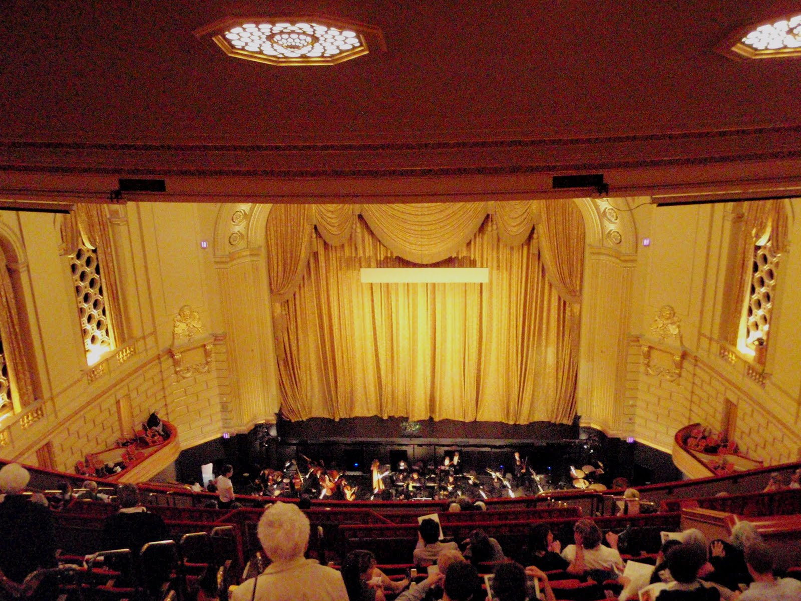 Opera stage curtains viewing gallery