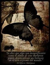 """""""El aleteo de las alas de una mariposa se puede sentir al otro lado del mundo"""""""