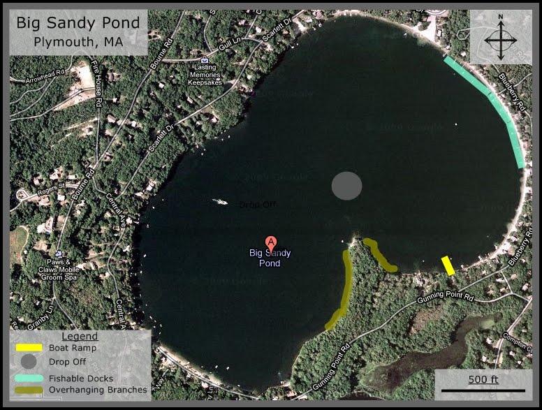 Massachusetts bass fishing spots big sandy pond plymouth ma for Good bass fishing spots near me