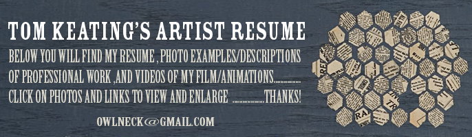 Tom Keating's Artist Resume