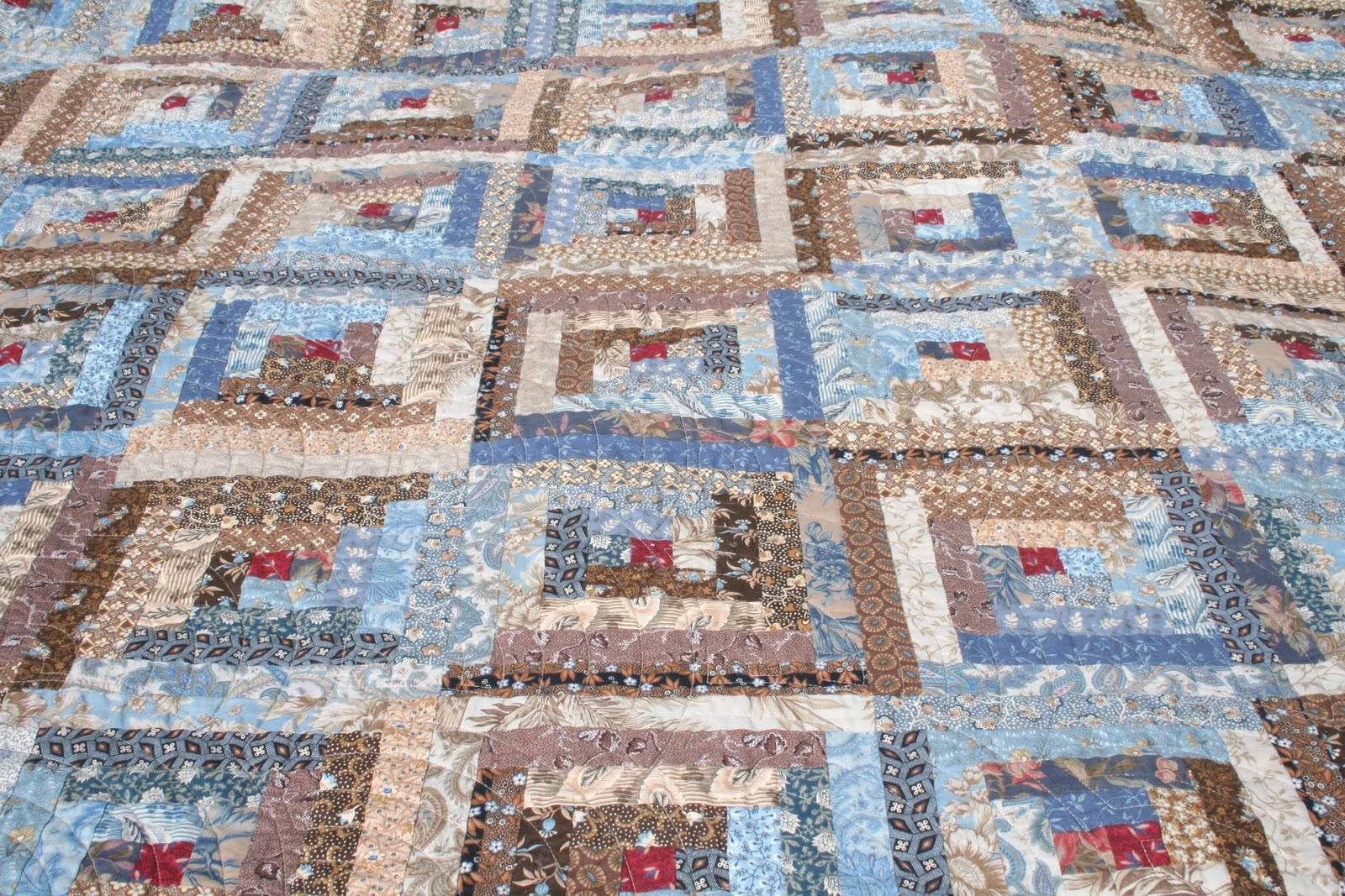 Gone aussie quilting log cabin quilt