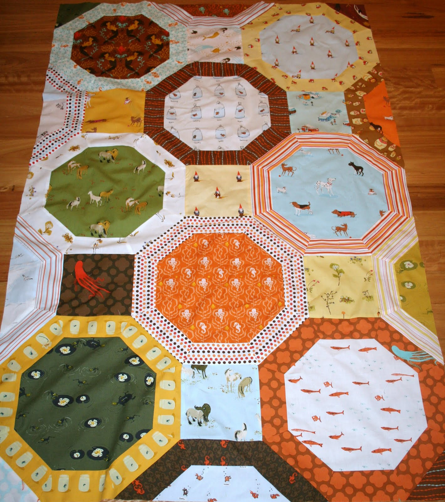 Octagon Quilting Templates : Gone Aussie Quilting: Octagon Quilt for Oliver!