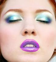 purple dramatic makeup