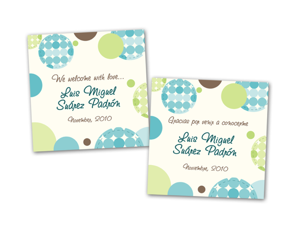 Modelos de tarjetas de recuerdo para baby shower - Imagui