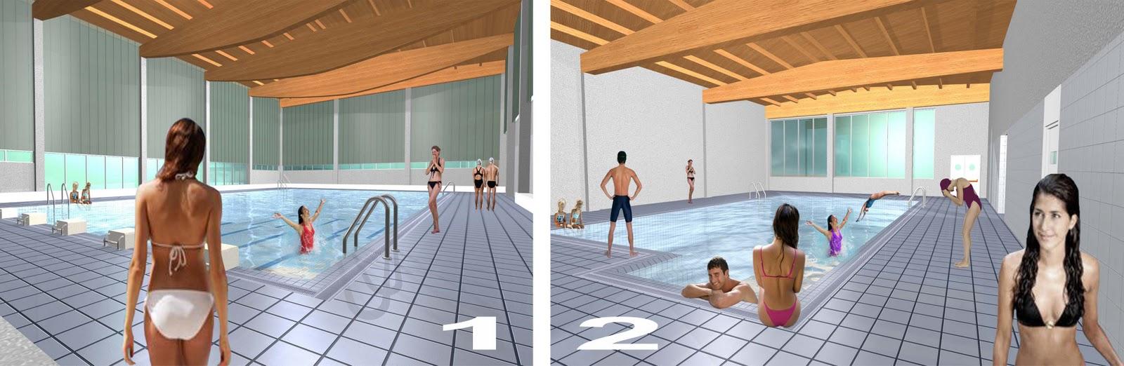 Concurso piscinas cubiertas alag n zaragoza cruz for Piscinas cubiertas municipales zaragoza