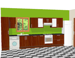 to build a kitchen: to build a straight kitchen