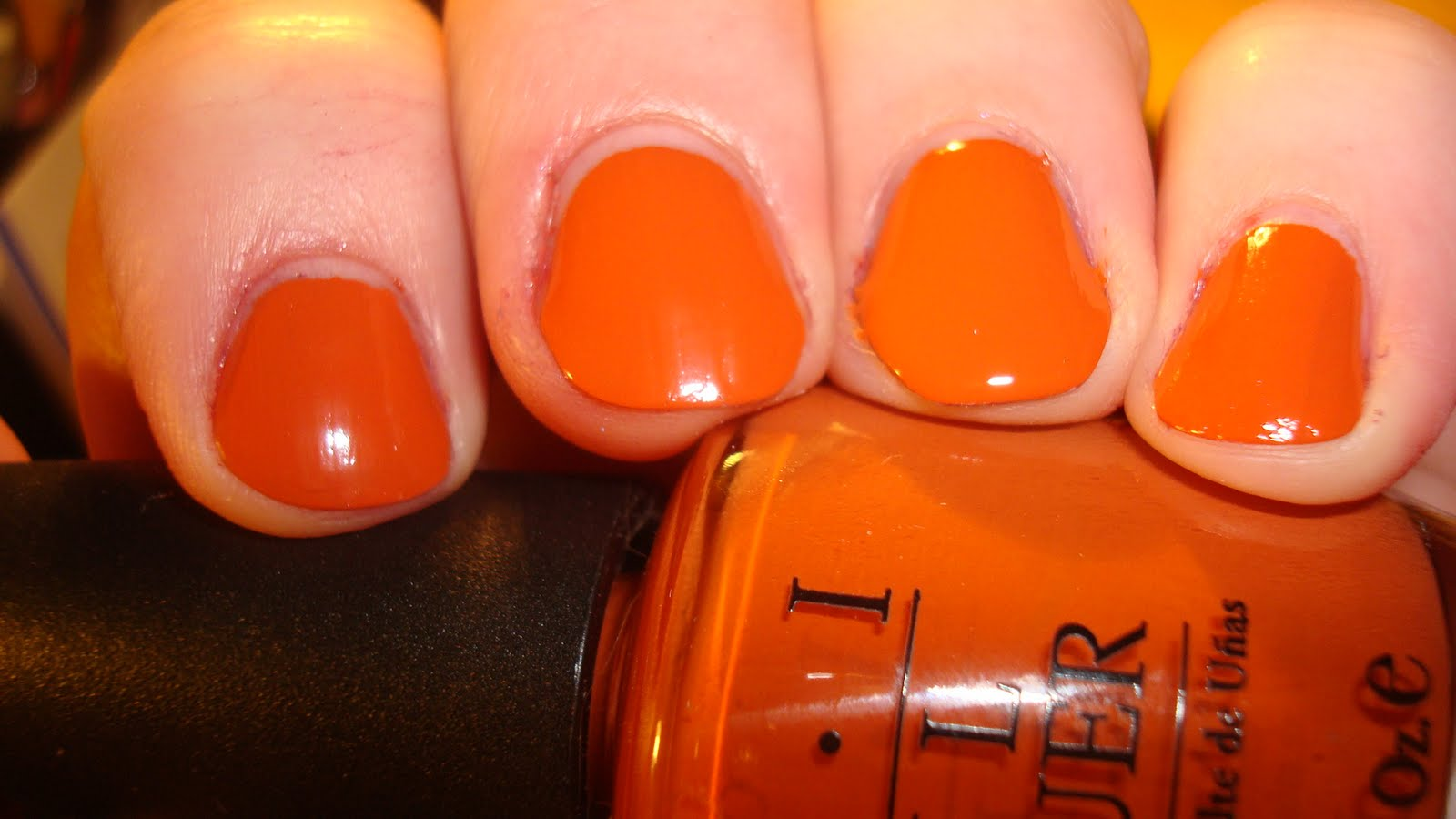 Opi A Good Mandarin Is Hard To Find Vs Hot And Spicy Chop-sticking to my Story