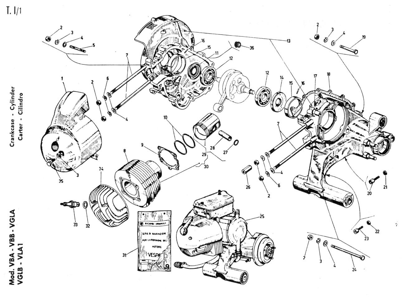 joy u0026 39 s   diagram mesin vespa