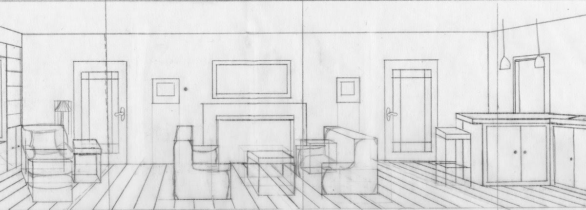 simple yet  confusing   floor plan perspective