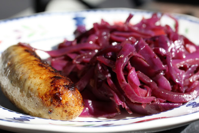 Glazed Chicken Sausage With Sauteed Cabbage Recipe — Dishmaps