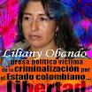 Liliany Obando, socióloga, presa política por sus ideas en Colombia